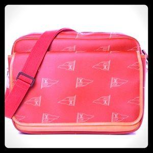 Authentic LV Cup Calvi Red Canvas Messenger Bag